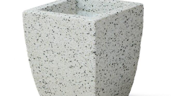 Вазон из мраморного камня. Модель –ИРИС S (цветная)
