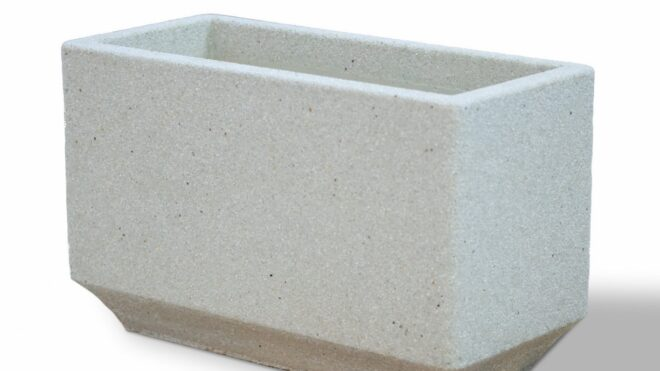 Вазон из мраморного камня. Модель – ГИАЦИНТ (цветная)